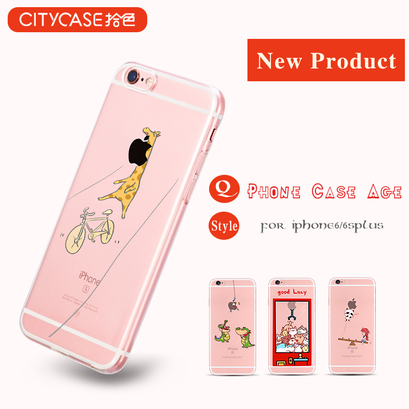 city&case PC Acrylic raw material printable mobile phone cover for iPhone 6 6s plus