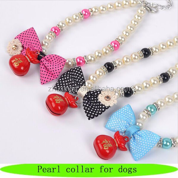 Luxury collar pearl for dogs, pet pearl collar, fashion dog pearl necklace