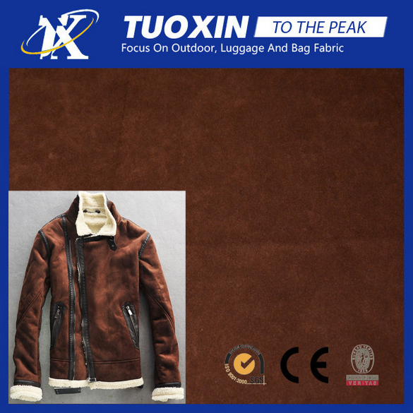 wholesale mocks suede loose coat fabric coat jacket outer wear material