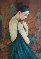 China art supplies beautiful woman back nude oil painting canvas chinese women nude photos women nude back oil painting for home