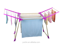PVC coated tube balcony folding free standing clothes drying rack