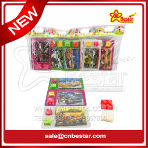 3D Racing Car Foam Puzzle Swiss Soft Candy Toy Candy
