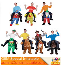2016 popular party used Fancy Dress Carry Me Beer man costume mascot