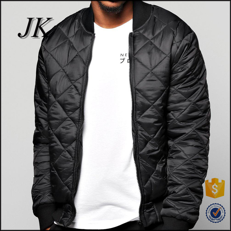 2016 winter mens new deisgn quilted padded fitted down bomber jacket