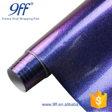 High quality glitter chameleon purple to blue 1.52*18 meter car vinyl wrap Removable Adhesive
