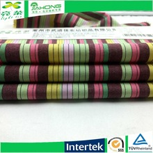 Customized colorful poplin rainbow stripe cotton fabric