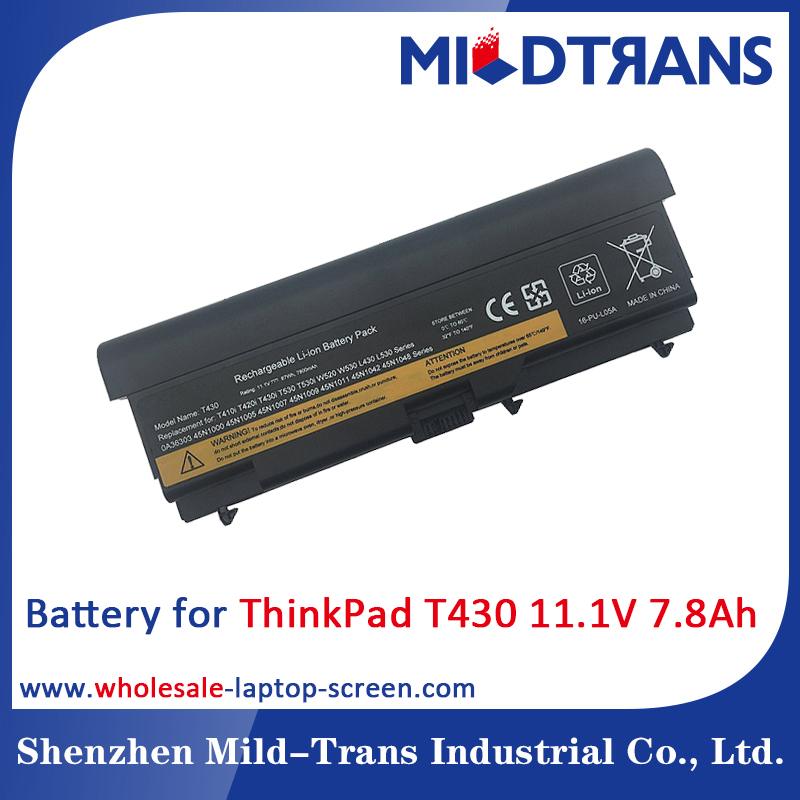 Laptop spare parts replacement battery for LENOVO ThinkPad T430 11.1V 7.8Ah