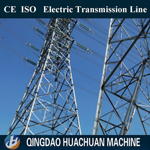 High Pressure Power 132KV Top build 220kv Angular Electric Power Transmission Line Steel Tower Octagonal