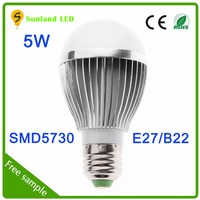 Hot Sale High Brightness 5W LED bulb light 3W 5w 7w 9w 12w 15w Aluminum/Plastic LED indoor bulb light SMD5730 E27 led bulb