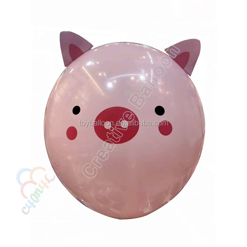 pink pig latex balloon for kids toy party decorations