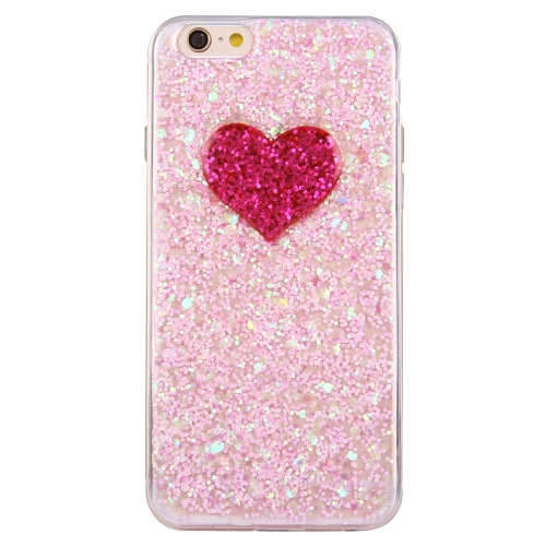 Pink Glitter bling blingHeart Pattern TPU Soft Case <strong>accessory</strong> for telephone iphone 6 &6s