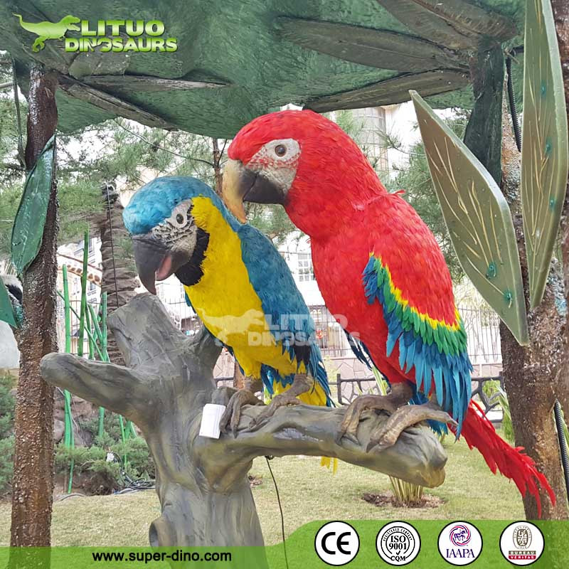Theme Park Animatronic Life Size Realistic Parrot Birds For Sale