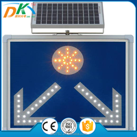 Solar Power road safety led flashing traffic arrow sign, arrow light sign