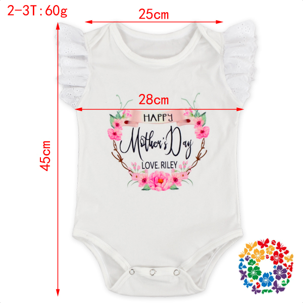 Kids Lace Flutter Sleeve Leotard Plain White Baby Rompers Summer Baby Clothes Romper