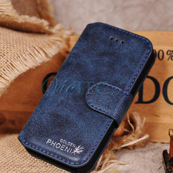 Wholesale for case iphone 5s, phoenix genuine leather flip case for iphone 5s