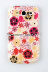 For Samsung Galaxy S3 III i9300 Printed Flower Butterfly Hard Plastic Phone Case Cover