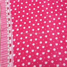 panda fleece fabric for pajamas and bedding sheets 100 polyester fabric