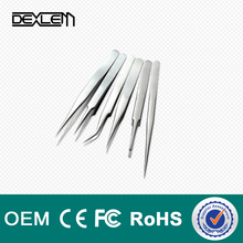 DELE hot sale custom tweezers stainless steel tweezers for mobile repair and computer tools