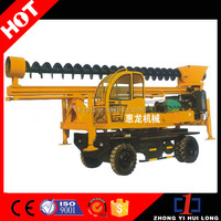 Full Hydraulic Wheeled Auger Water Well Drill Machine