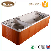 2016 European style luxury artificial massage freestanding indoor outdoor used clear acrylic swimming pool for sale