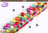 2-16mm DIY jewelry accessories colorful turquoise strand