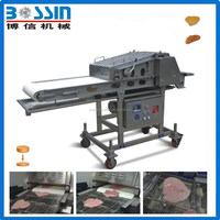 Roller flatten machine for meat processing/meat flatten machine