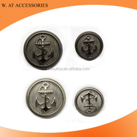 Wholesale Custom Embossed Metal Sewing Garment Accessory Button