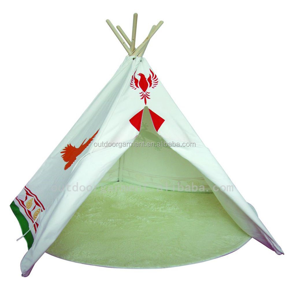 TP17 Zhejiang Tulip 100% cotton canvas fabric wholesale indoor kids play teepee