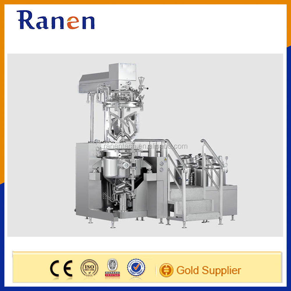 High viscous product vacuum emulsifier machine for making wax lotion
