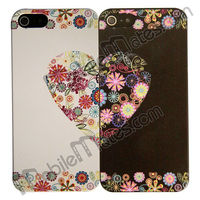 Romantic Lovers Couple Heart Pattern PC Back Cover Hard Case for iPhone 5