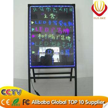 2016 Alibaba new products integrated A- stand LED writing board with reomote control for shops advertising factory direct