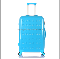 custom-made abs pc luggage carry on type trolley travel luggage bag on wheel