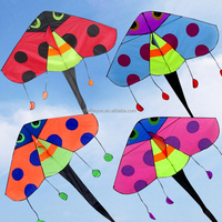 Easy to fly children ladybug kites in different colors for kids