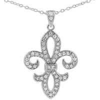 Turkish Silver White Gold Chain Fleur
