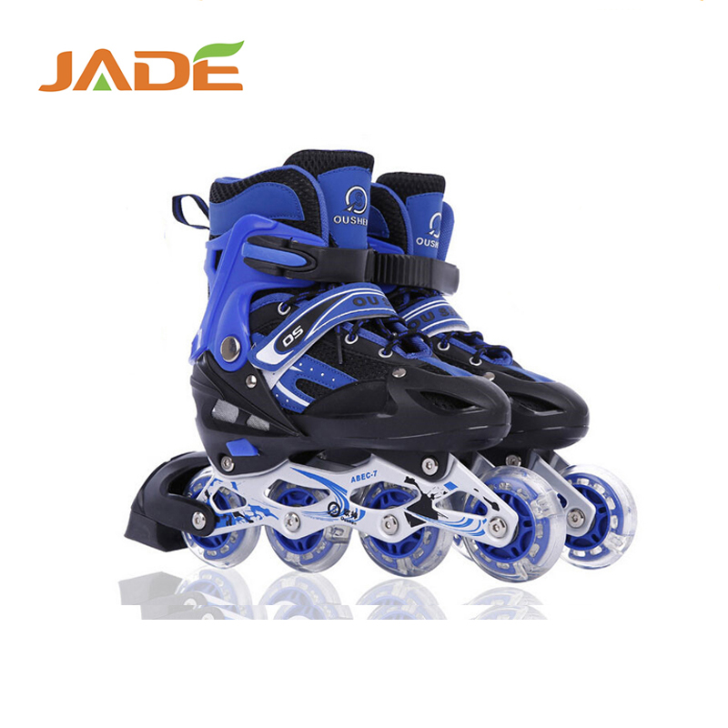 2017 new design professional city run sew inline skate shoes for kids