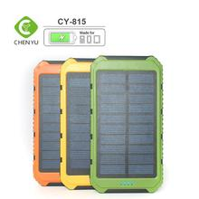 8000mAh Portable USB Solar Power Bank Charger External Battery for Cellphones Black