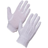 Interlock Bleached White Cotton Pvc Dots Cheap Bicycle Gloves