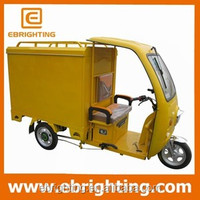 60v 1000W electric cargo tricycle with cabin /electric food truck tricycles /bike food cart for sale