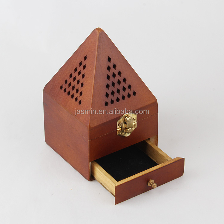 HOT SELL PYRAMID SHAPE WOOD INCENSE BURNER WHOLESALE INCENSE BURNER WOODEN
