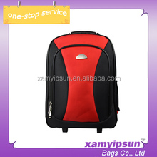 Aluminum handle High Quality Multi Interlayer Trolley Backpack Bags
