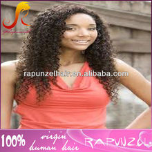 Nice tight curly Indian human hair full lace wig