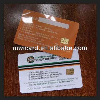 CR80 ISO 7816 for Membership,Ticketing,School etc SLE5542 Contact Smart Card