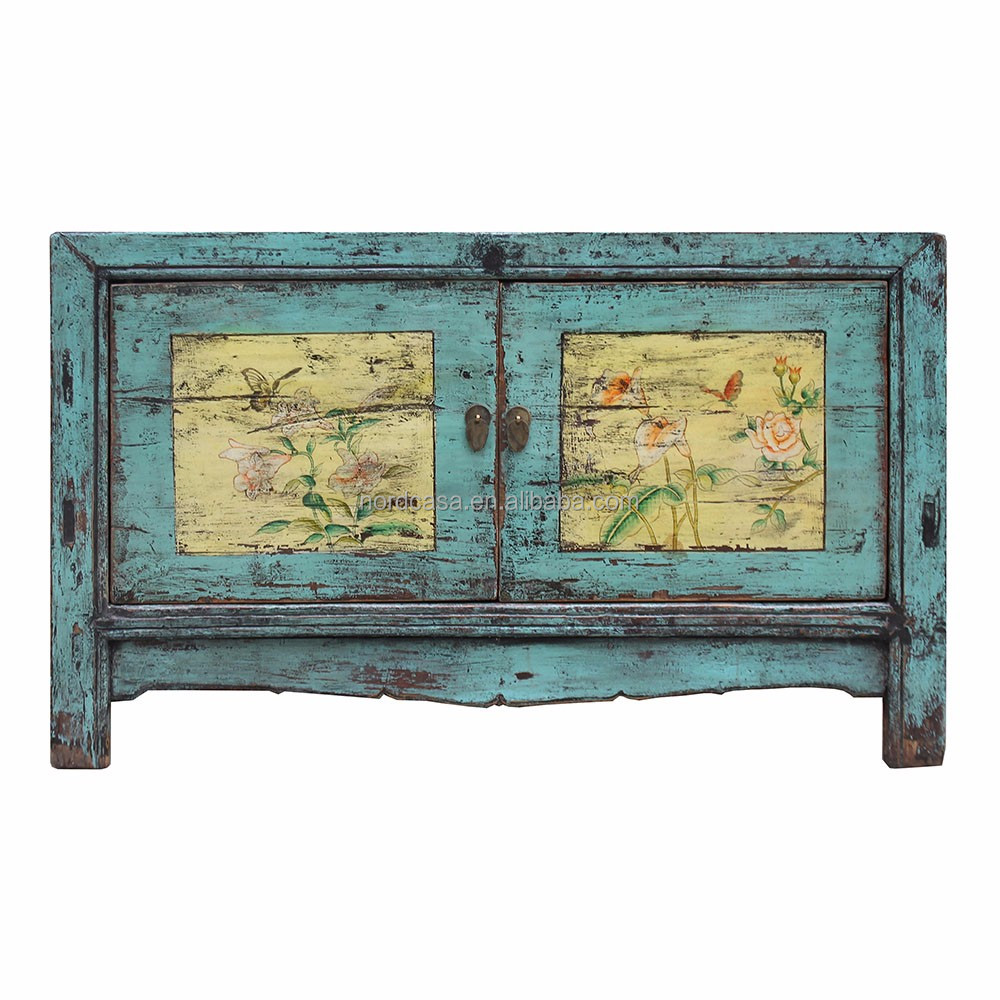 Chinese Used Wood Asian Furniture Hand Painted Whole Antique Old
