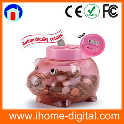 2016 Hot Sale Coin Counter Electronic Safety Money Box piggy bank
