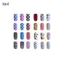 EA fengshangmei wholesale water transfer paper nail art stickers foil
