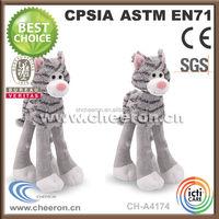 2014 plush fluffy stuffed siamese cat animal toy toy
