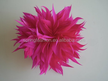 Ladies feather flower fascinator wholesale on clip