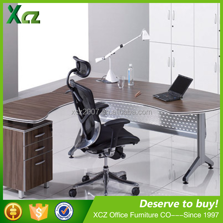 Hot Sale Curved Manager Office Table Design/Executive Office Desk Use Office Furniture