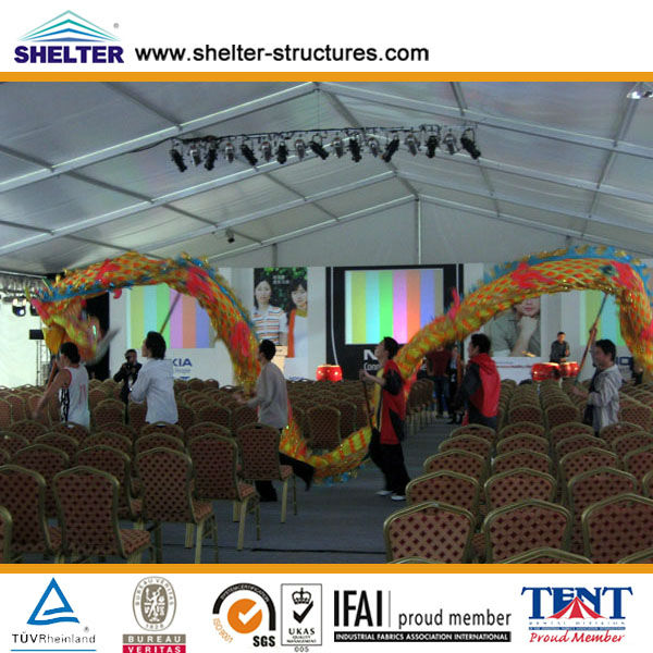 2013 New Style Festival Tent 6X9m,15X30m, 30X50m Made of Aluminum Alloy & PVC Coated Cover Used for Over 20 Years