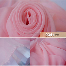 Factory wholesale cheap polyester light pink chiffon fabric